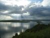 Aussicht auf das Stettiner Haff in Lubin (Lebba)