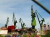 Blick auf die Kräne der Danziger Werft