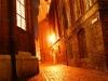 Eine malerische kleine Gasse an der Marienkirche