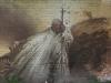 Graffiti vom Papst Johannes Paul II